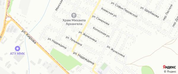 Улица Железняка на карте Магнитогорска с номерами домов