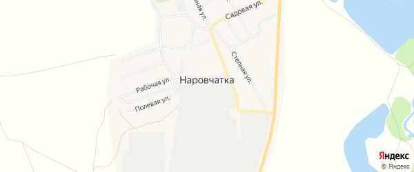 Карта поселка Наровчатки в Челябинской области с улицами и номерами домов