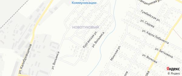 Курганская улица на карте Магнитогорска с номерами домов