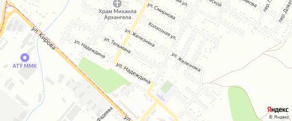 Улица Тельмана на карте Магнитогорска с номерами домов