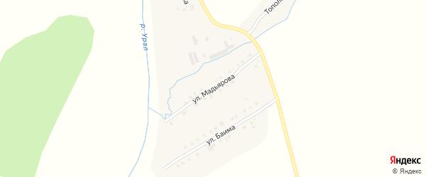 Улица Мадьярова на карте села Наурузово с номерами домов