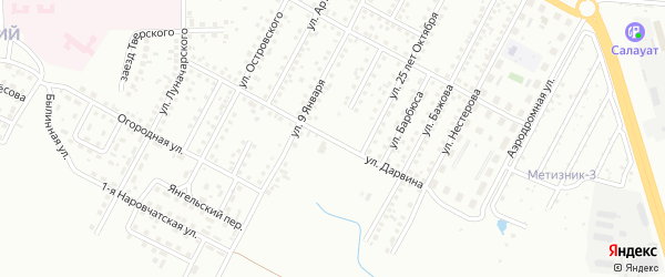 Улица Дарвина на карте Магнитогорска с номерами домов
