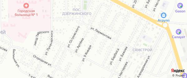 Улица 9 Января на карте Магнитогорска с номерами домов