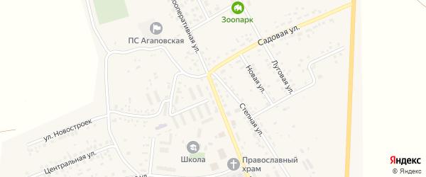 Кооперативная улица на карте поселка Наровчатки с номерами домов