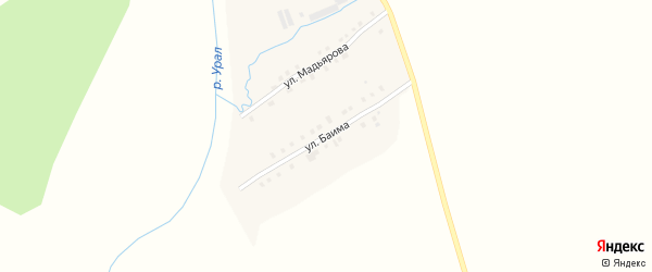 Улица Баима на карте села Наурузово с номерами домов