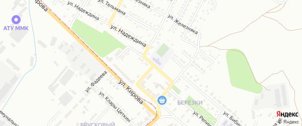 Школьный переулок на карте Магнитогорска с номерами домов