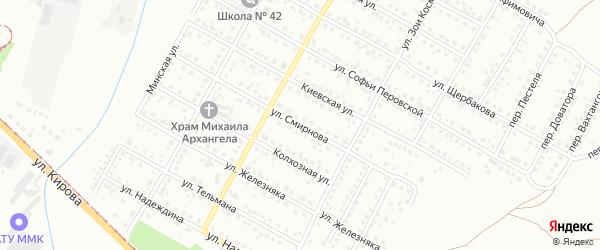 Улица Смирнова на карте Магнитогорска с номерами домов
