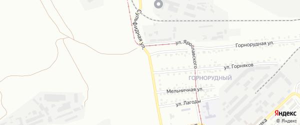 Сульфидная улица на карте Магнитогорска с номерами домов