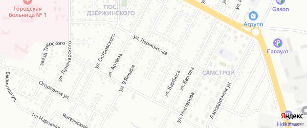 Дальний переулок на карте Магнитогорска с номерами домов