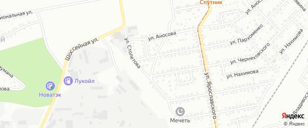 Улица Прянишникова на карте Магнитогорска с номерами домов