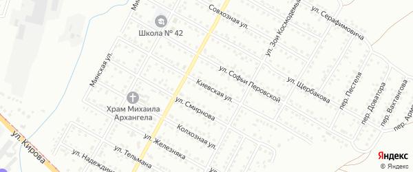 Киевская улица на карте Магнитогорска с номерами домов