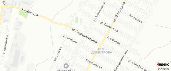 Улица Коммунаров на карте Магнитогорска с номерами домов