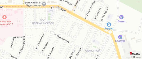 Днепропетровская улица на карте Магнитогорска с номерами домов