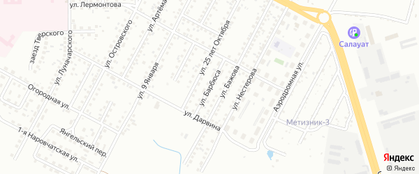 Улица Барбюса на карте Магнитогорска с номерами домов