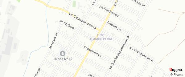 Улица Шубина на карте Магнитогорска с номерами домов