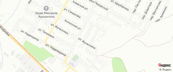 Безымянный переулок на карте Магнитогорска с номерами домов