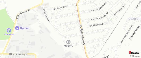 Чимкентский переулок на карте Магнитогорска с номерами домов