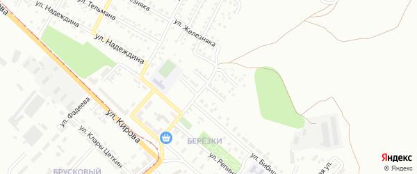 Переулок Докучаева на карте Магнитогорска с номерами домов