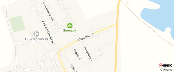 Садовая улица на карте поселка Наровчатки с номерами домов