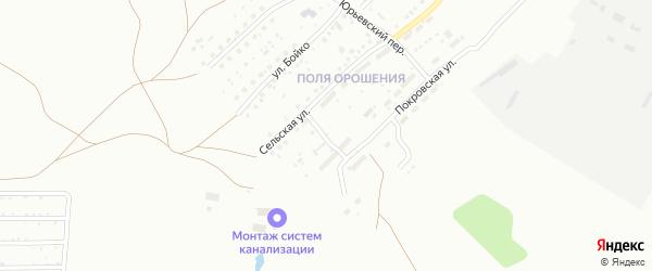 Азовский переулок на карте Магнитогорска с номерами домов