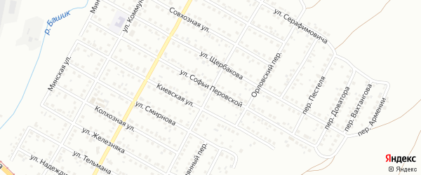 Улица Софьи Перовской на карте Магнитогорска с номерами домов