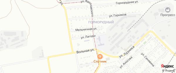 Улица Лагоды на карте Магнитогорска с номерами домов
