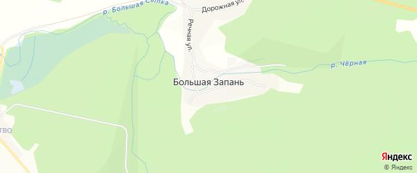 Карта поселка Большей Запани в Челябинской области с улицами и номерами домов