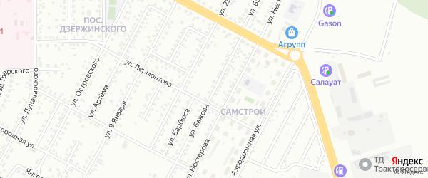 Улица Бажова на карте Магнитогорска с номерами домов