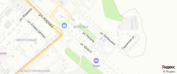 Улица Репина на карте Магнитогорска с номерами домов