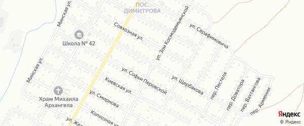 Улица Щербакова на карте Магнитогорска с номерами домов