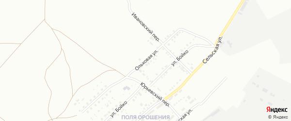 Ольховая улица на карте Магнитогорска с номерами домов