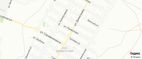 Улица Панфилова на карте Магнитогорска с номерами домов
