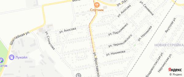 Улица Ярославского на карте Магнитогорска с номерами домов
