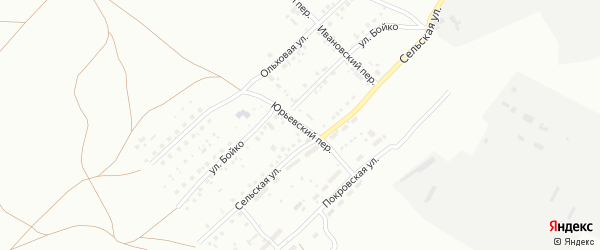 Ивановский переулок на карте Магнитогорска с номерами домов