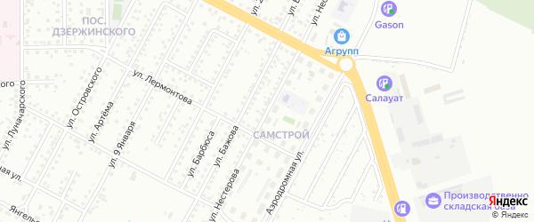 Улица Нестерова на карте Магнитогорска с номерами домов
