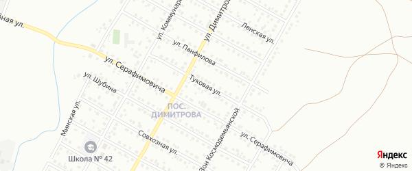 Туковая улица на карте Магнитогорска с номерами домов