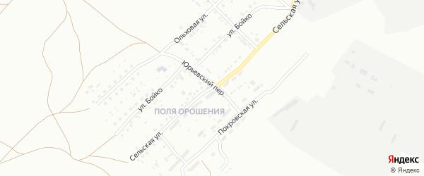 Сельская улица на карте Магнитогорска с номерами домов