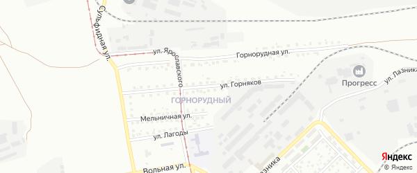 Улица Горняков на карте Магнитогорска с номерами домов