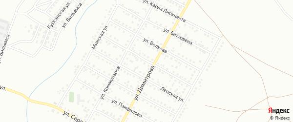 Улица Челюскинцев на карте Магнитогорска с номерами домов