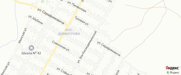 Улица Серафимовича на карте Магнитогорска с номерами домов