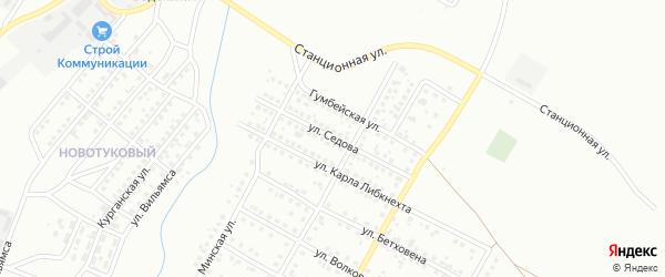 Улица Седова на карте Магнитогорска с номерами домов