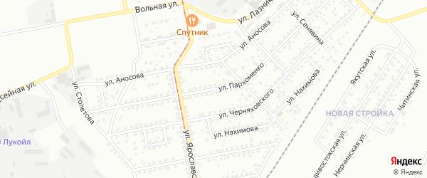 Улица Пархоменко на карте Магнитогорска с номерами домов