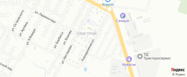 Аэродромная улица на карте Магнитогорска с номерами домов