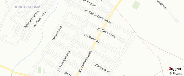 Улица Волкова на карте Магнитогорска с номерами домов