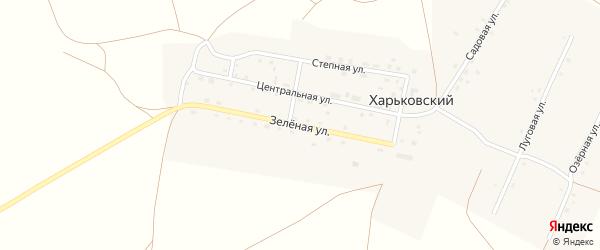 Зеленая улица на карте Харьковского поселка с номерами домов