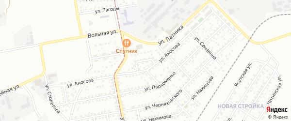Переулок Техники на карте Магнитогорска с номерами домов