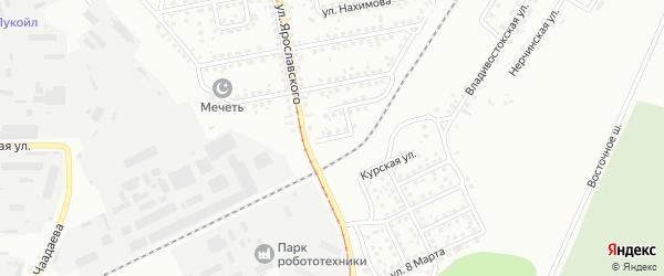 Ярославский переулок на карте Магнитогорска с номерами домов