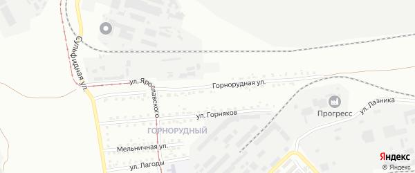 Горнорудная улица на карте Магнитогорска с номерами домов