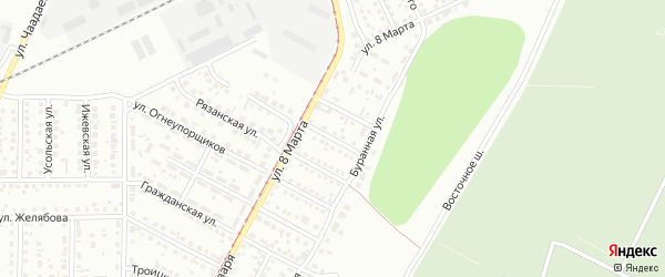 Мебельная улица на карте Магнитогорска с номерами домов