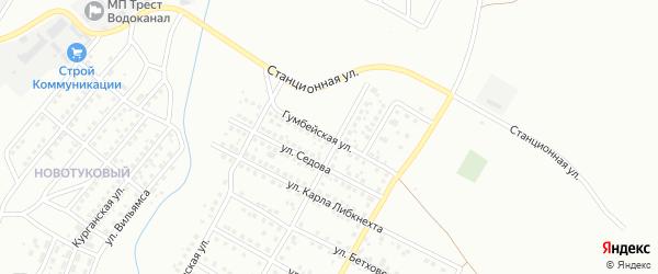 Гумбейская улица на карте Магнитогорска с номерами домов